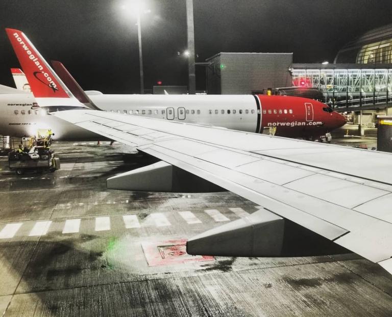 [An/auf/in der Luft]: Oslo lufthavn Gardermoen