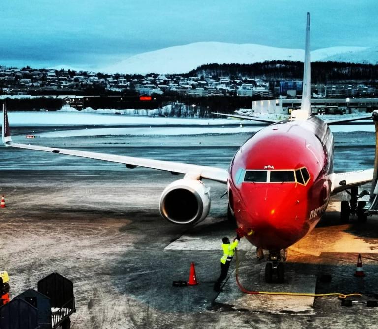 [An/auf/in der Luft]: Tromsø lufthavn – TOS