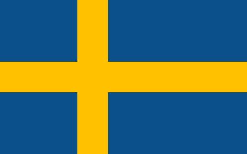 Sveriges flagga/Schwedens Flagge